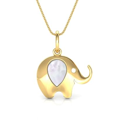 Elephant Mother of Pearl Pendant