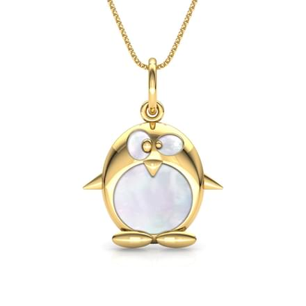 Penguin Mother of Pearl Pendant