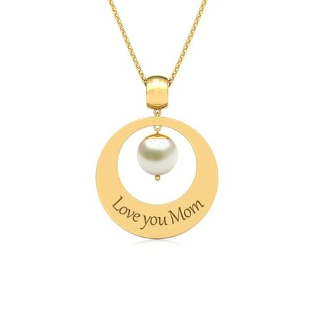 Engraved Pearl Pendant