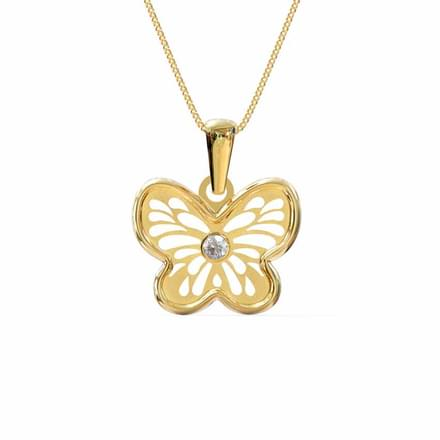 Butterfly Cutout Pendant