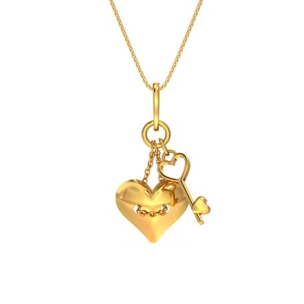Sweetheart Love Lock Pendant