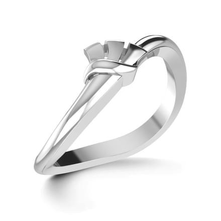Clasp Platinum Ring