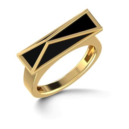 Black Pyramid Ring