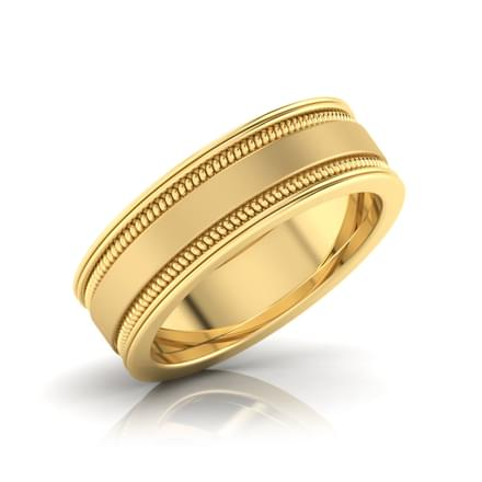 Derwin Gold Band for Him Jewellery India line CaratLane