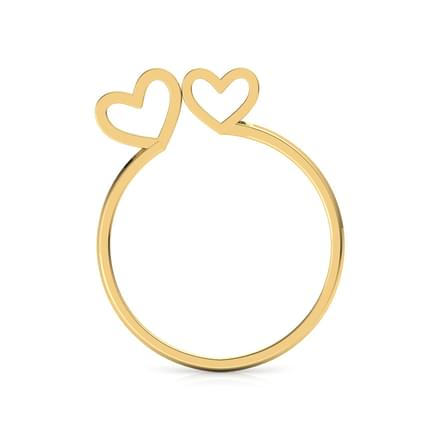 Duo Heart Ring