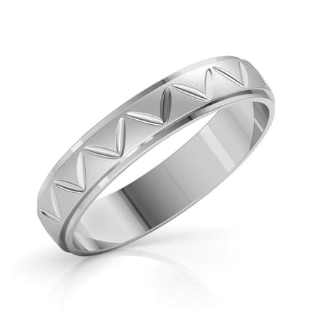 Asher Platinum Band for Him