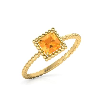 Citrine Quad Ring