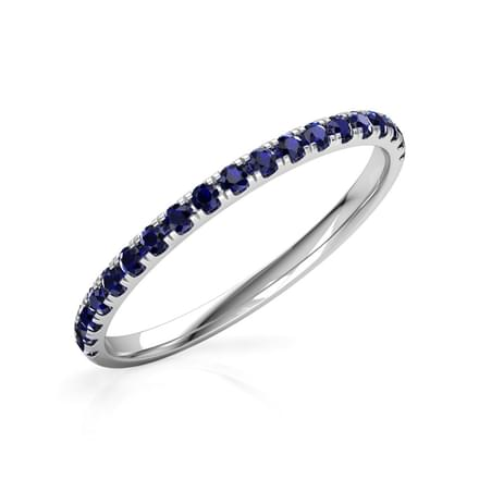 Sapphire Linear Ring