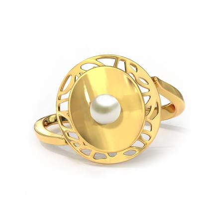 Cutout and Pearl Ring