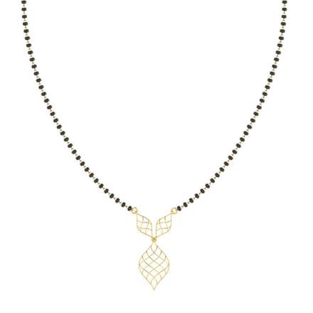 Agalya Criss-Cross Gold Mangalsutra