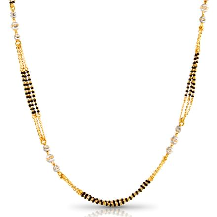 Ovia Beaded Gold Mangalsutra