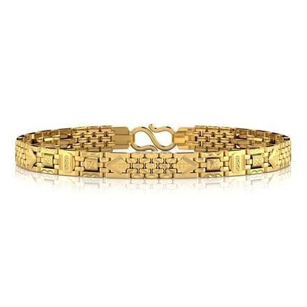 Geometric Lined Men s Bracelet Jewellery India line CaratLane
