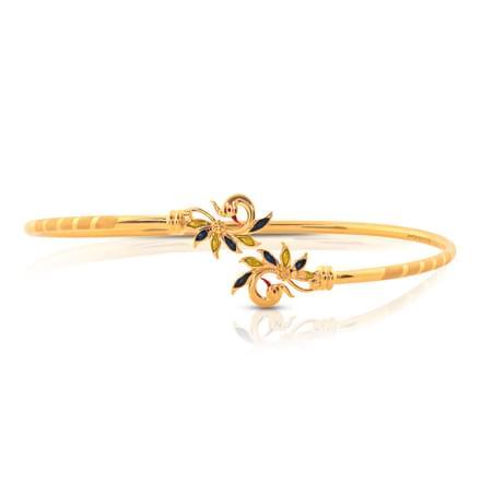 Aarini Leafy Gold Bracelet