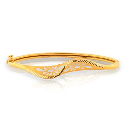 Eila Twist Gold Bracelet