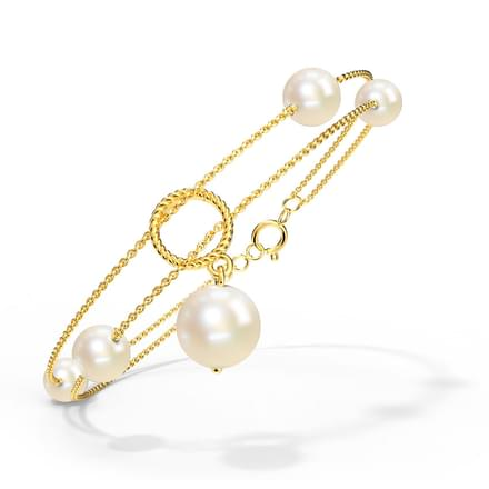 Duo Chain Pearl Bracelet Jewellery India Online