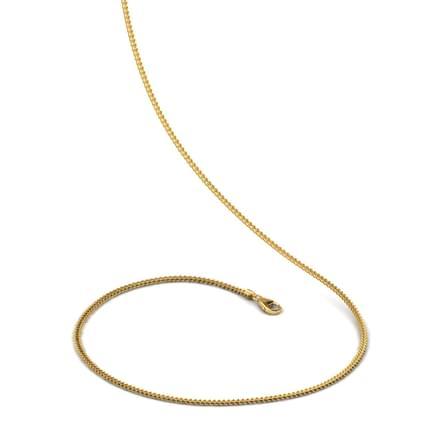 Golden Striped 18 Inch 22kt Gold Chain