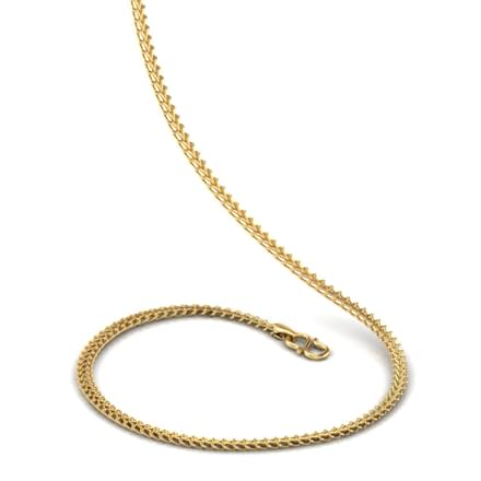 Double Interlinked 18 Inch 22kt Gold Chain