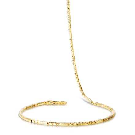 Cross Textured 18 Inch 22kt Gold Chain