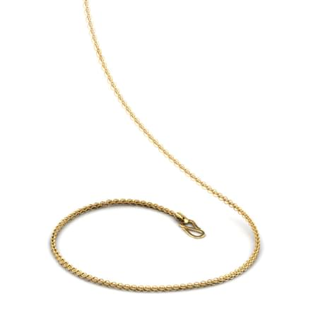 Cross Interlinked 20 Inch 22kt Gold Chain