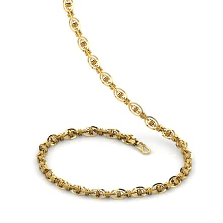 Oval Interlooped 20 Inch 22kt Gold Chain