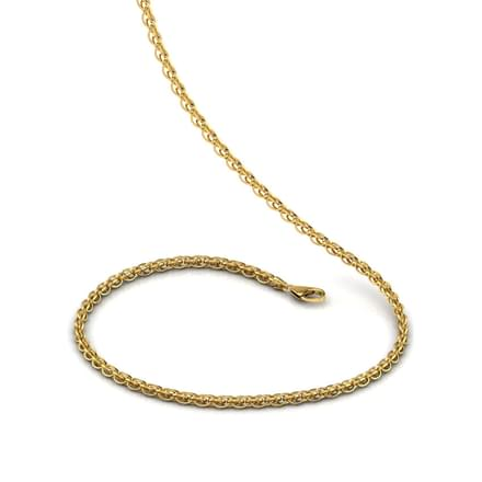 Intertwined Links 20 Inch 22kt Gold Chain