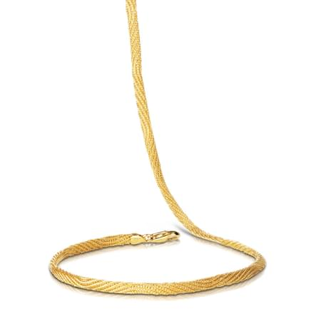 Gold Mesh 18 Inch 22Kt Gold Chain