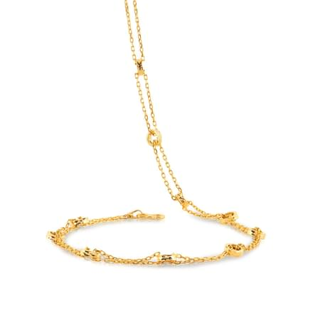 Jean 18 Inch 22Kt Gold Chain