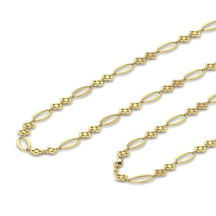 Oval 3 in 1 Gold Chain