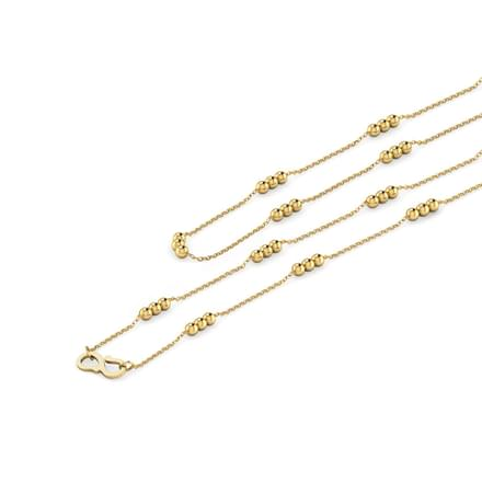 Triple Beaded 20 Inch 22Kt Gold Chain