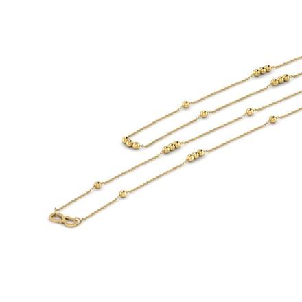 Alternative Bead 16 Inch 22kt Gold Chain