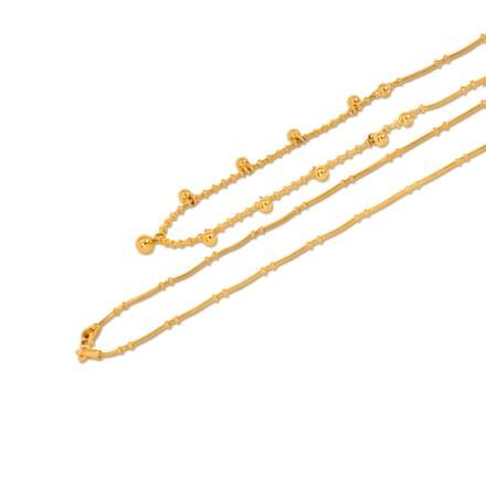 Ball 18 Inch 22Kt Gold Chain