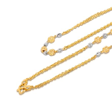 Beaded 18 Inch 22Kt Gold Chain