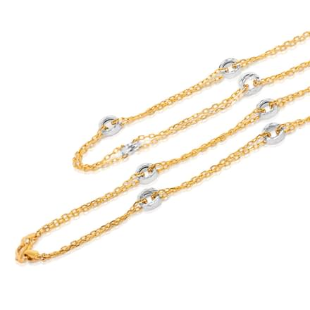 Hoop Layered 20 Inch 22Kt Gold Chain
