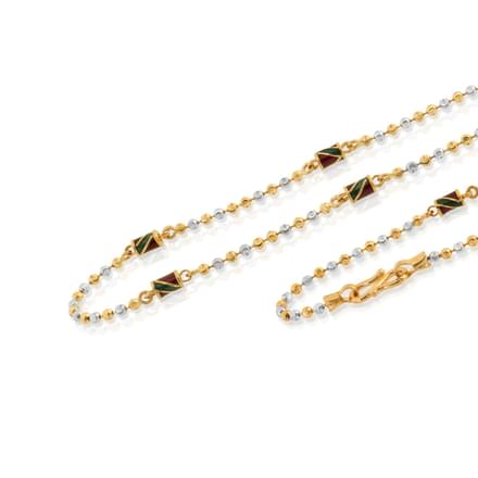 Aarya 18 Inch 22Kt Gold Chain