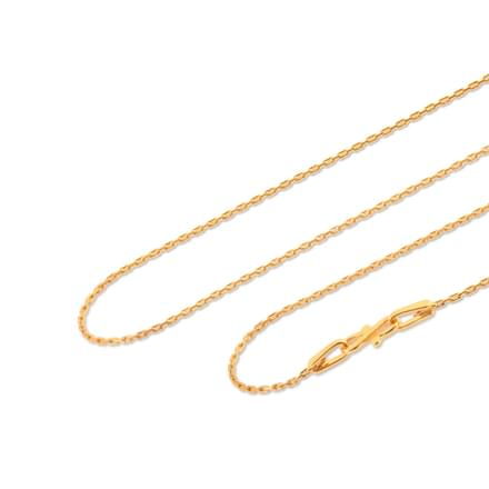 Bevel 16 Inch 22Kt Gold Chain