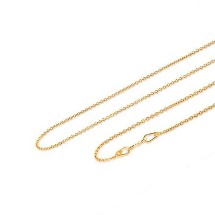 Kanak 18 Inch 22Kt Gold Chain