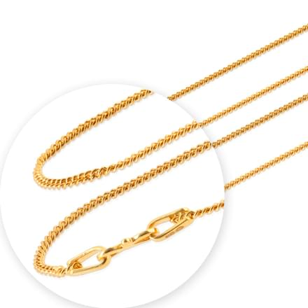 Weave Cable Gold Chain