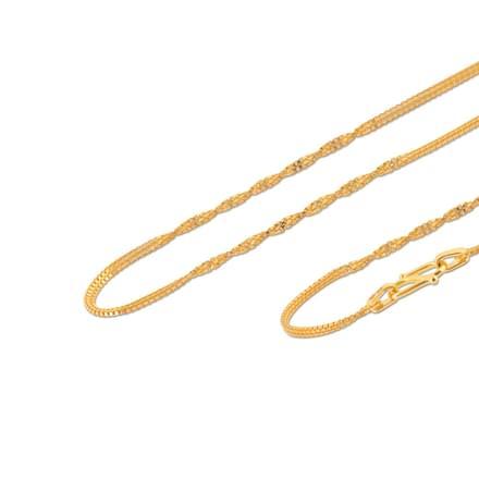 Ellora 18 Inch 22Kt Gold Chain