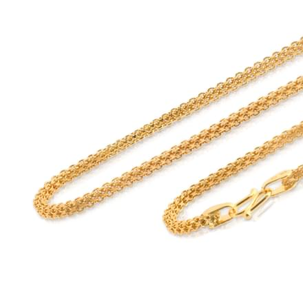 Interlaced Cable Gold Chain