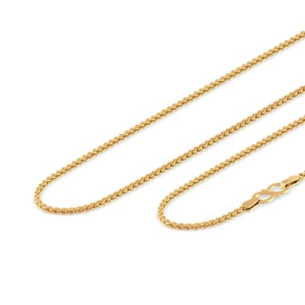 Grand Foxtail Weave Gold Chain
