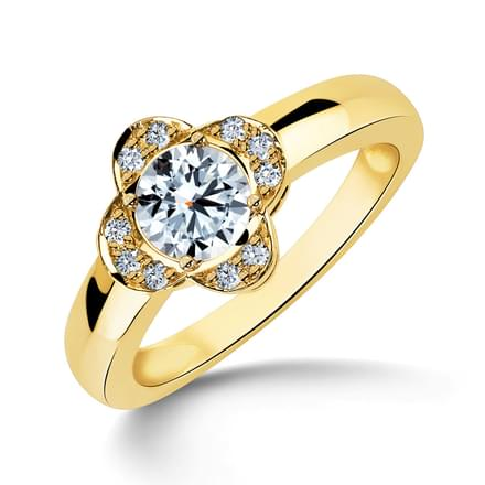 Floral Soltaire Ring Mount