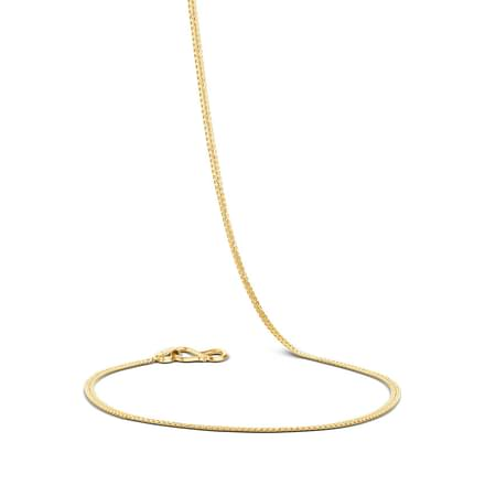 Curlicue Textured Gold Chain