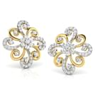 Floral Swirls Stud Earrings