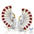 Scarlet Fan Earrings