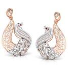 Peafowl Trellis Drop Earrings