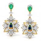 Flair Peacock Drop Earrings