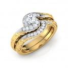 Spiral Glim Bridal Ring Set