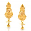 Duti Beaded Gold Drop Earrings