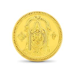 1gm, 24Kt Lord Balaji Gold Coin