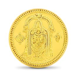 2gm, 24Kt Lord Balaji Gold Coin